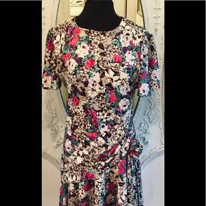 Vintage 80's Retro  to 20's Floral Dropped Waist